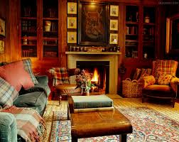 Hunting Decor For Living Room Tartan Plaids In Ward Denton Home In Scotland In A Cabin In The