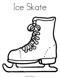 Small Picture Ice Skate Coloring Page Twisty Noodle