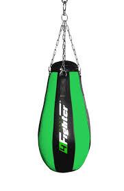 4fighter professional imitation leather punching bag sandbag teardrop black green filled 90cm