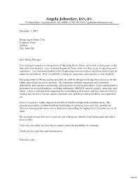 Sample Resume Cover Letter For Registered Nurse Inspirationa Nursing