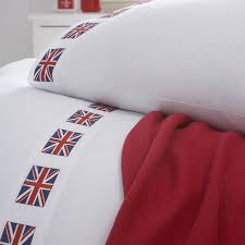 british flag bedding white bed