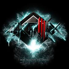 this is a skrillex cd logo he s a very por dubstep artist i chose this one because its a cool design and i like the diffe strings of lights