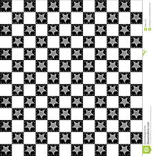 Checkered Design Black And White Checkered Star Pattern Stock Illustration Image