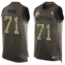To Redskins Charles 71 Limited Tank - Men's Top Green Washington Football Salute Service Jersey Mann