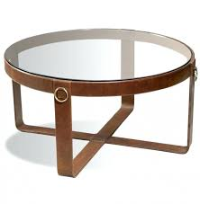 abbyson living havana round leather coffee table modern rustic pertaining to abbyson living havana round