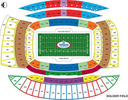 Soldier Field Chart Soldier Field Chicago Il Seating Chart View