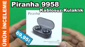 Piranha 9958 Kablosuz Kulak İçi Kulaklık - 10 Haziran 2021 A101 - YouTube