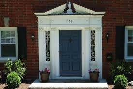 Red Front Door Color For Brick House With White Door Of Great