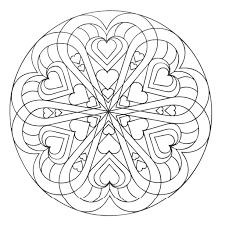 Un Mandala Parfait Pour La Saint Valentin Dans La Galerie
