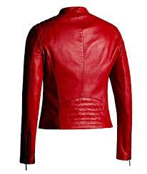 corbani red leather jacket for women moto fashion genuine leather jacket x small red at women s coats
