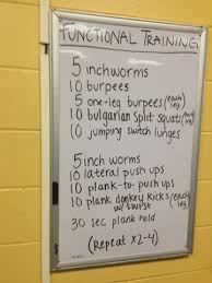 functional whiteboard workout