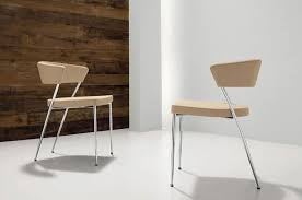 Imola-Prinz, Minimalist chair in metal and leather, for Restaurant