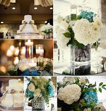Wedding Reception Centerpieces Elegant Ivory Cake Onewedcom