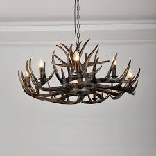 9 light rustic artistic retro antler black chandelier for living room dining room bedroom