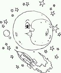 Small Picture moon and the rocket ship coloring page Download Print Online