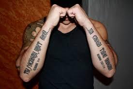 татуировка на предплечье у парня надпись на русском фото