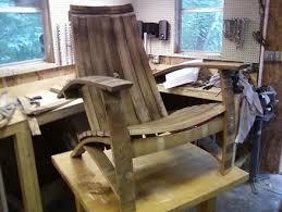 wine barrel furniture plans. Wine Barrel Adirondack Chair Furniture Plans
