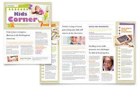 Education Newsletter Templates Kindergarten Newsletter Template Word Publisher