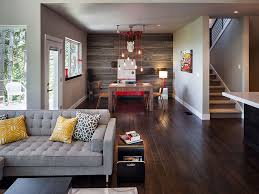 rustic contemporary furniture. Modern Rustic Interior Application In Living Room Direct Connect To Dining Near Stairs With Amazing Contemporary Furniture And Decorative Wooden Wall .