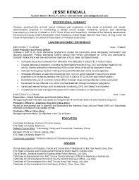 Probation Officer Resume Juvenile Sle Sample Resume Probation correctional officer  resume cover letter x correctional officer