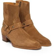 whole dusty cinnamon tan suede biker boots suede leather ankle mens boots menace masculine zipper up low heel zapatos shoes for men wedge booties boots