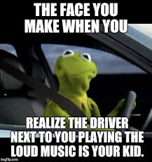 kermit driving face. Perfect Driving Kermit Driving  THE FACE YOU MAKE WHEN REALIZE DRIVER NEXT TO  PLAYING With Face M