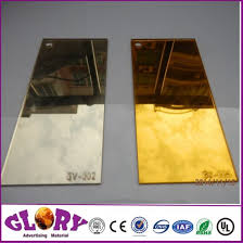 wall decoration plastic silver mirror and golden acrylic mirror sheet