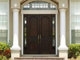 modern front door with side panel