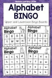 alphabet bingo mamas learning corner
