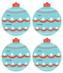 Beautiful ornaments as free printable holiday gift tags by Martha Stewart