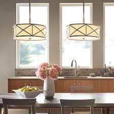 Shop Kichler Lighting Bands In W Brushed Nickel Fabric Semi - Semi flush kitchen lighting