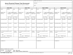 Army Physical Fitness Test Chart Da Form 705 Download Fillable Pdf Army Physical Fitness