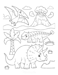 Coloring pages of dogs to print. 128 Best Dinosaur Coloring Pages Free Printables For Kids