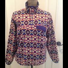 Patagonia Patterned Fleece Simple Patagonia Tops Awesome Synchilla Patterned Fleece Poshmark