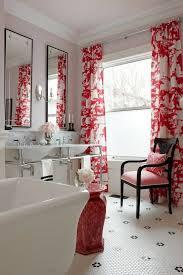 Bathrooms Design Decorative Red Bathroom Window Curtains Curtain