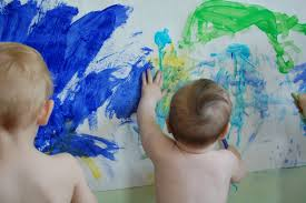 washable wall paintmessy play  funkidoo