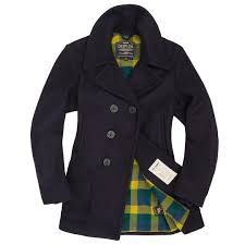 womens navy peacoat