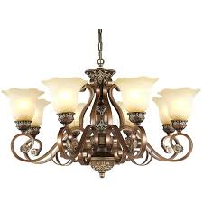lovely antique bronze 6 light crystal and iron chandelier and 94 antique bronze 6 light crystal