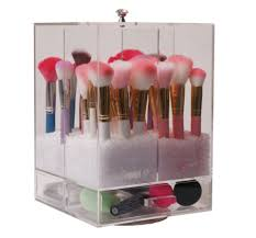 dust free makeup brush holder. sale diamond spinning brush holder dust free makeup