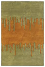 chandra faro far 6205 green orange 2 x 3 rug