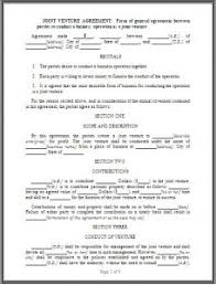 Joint Venture Agreement Template - Word - Excel Templates