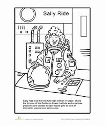 Sally Ride Coloring Page Kid Education Sally Worksheets First