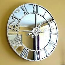 mirrored wall clock skeleton style