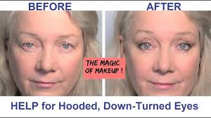 hooded downturned eyes lifted reved makeup tips video for women beauty over 50 beauty