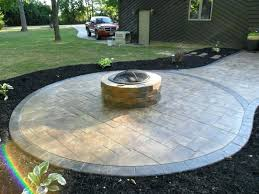 stamped concrete patio with fire pit cost. Exellent Patio Concrete Patio With Fire Pit Beautiful Stamped   And Stamped Concrete Patio With Fire Pit Cost T