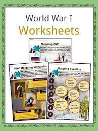 World War I (WW1) Worksheets, Facts & Information For Kids