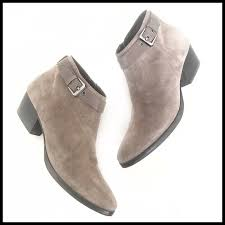 Aquatalia Boots Size Chart Aquatalia Taupe Beige Suede Ankle Sz 9 Booties New
