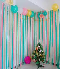 diy crepe paper party streamer celebration garland decor