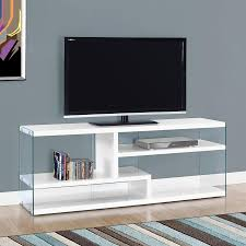 glossy white tv stand. Plain Glossy Monarch Specialties Glossy White TV Cabinet And Tv Stand 0