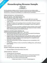 Housekeeping Resume Examples Amazing Resume Examples Housekeeping Housekeeper Resume Sample No Experience